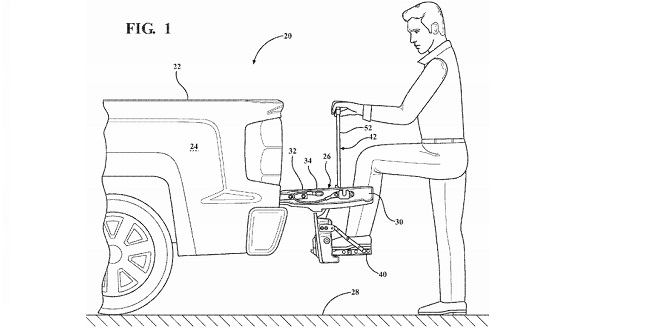 "GM Patents Two of its Own ""Man Step"" Solutions for Pickup Trucks"