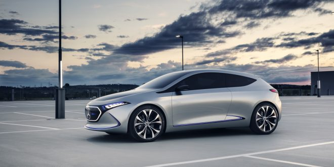 Mercedes Shows off Working EQA Electric Car